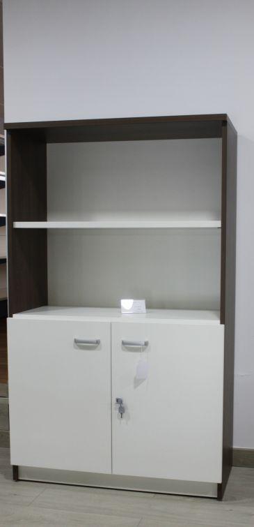 Armario librería, media puerta blanca
