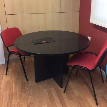 Mesa reunión pata panel